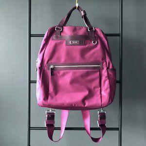 Tumi magenta backpack